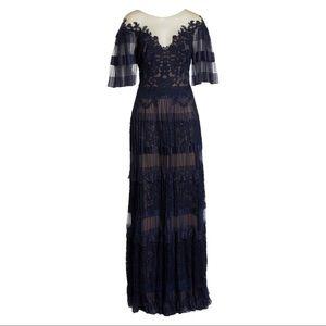 Nordstrom Dresses - Tadashi Shoji Illusion V-Neck Lace Gown
